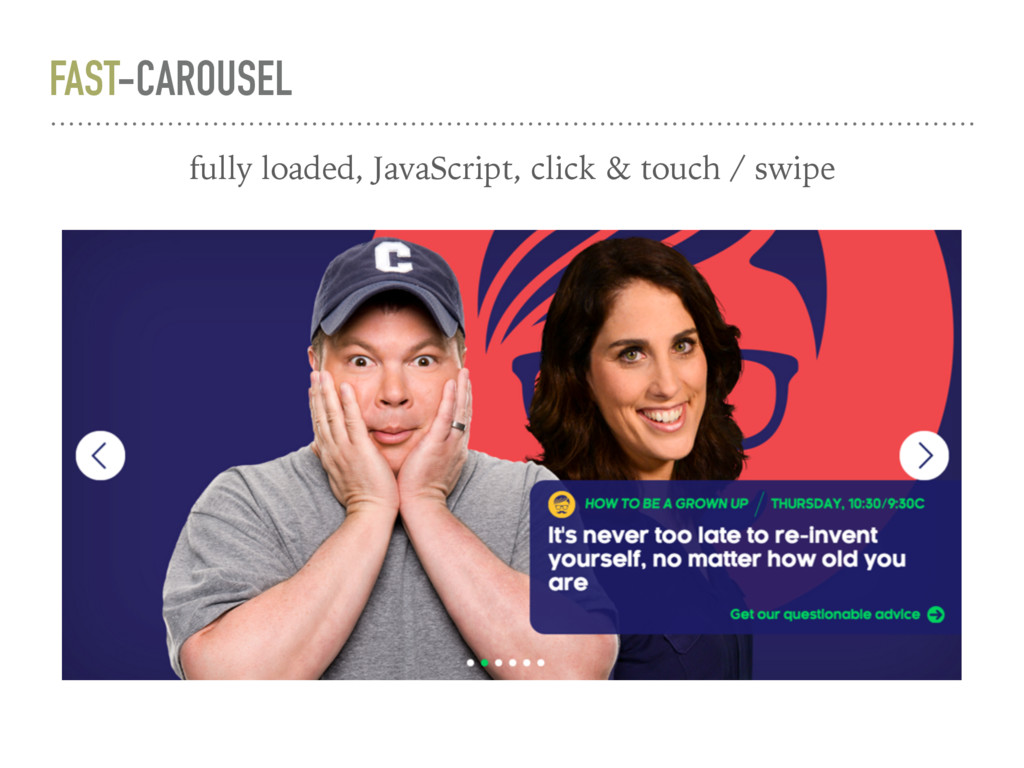 FAST-CAROUSEL fully loaded, JavaScript, click &...