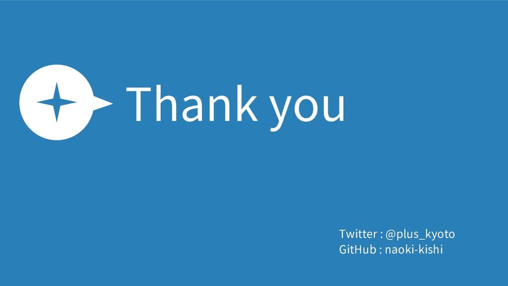 Thank you Twitter : @plus_kyoto GitHub : naoki-...