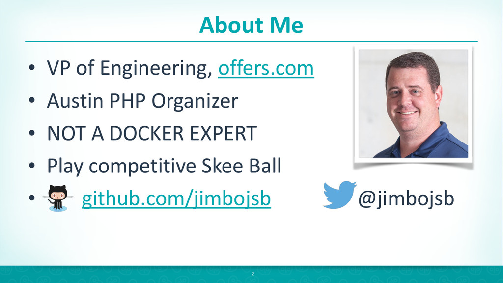 About Me • VP of Engineering, offer...