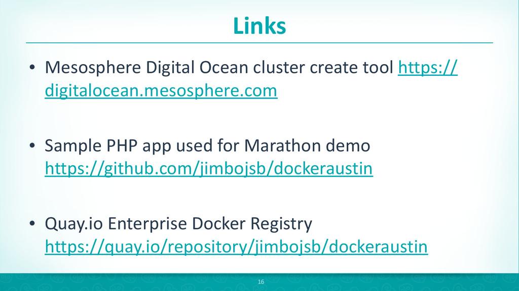 Links • Mesosphere Digital Ocean clust...