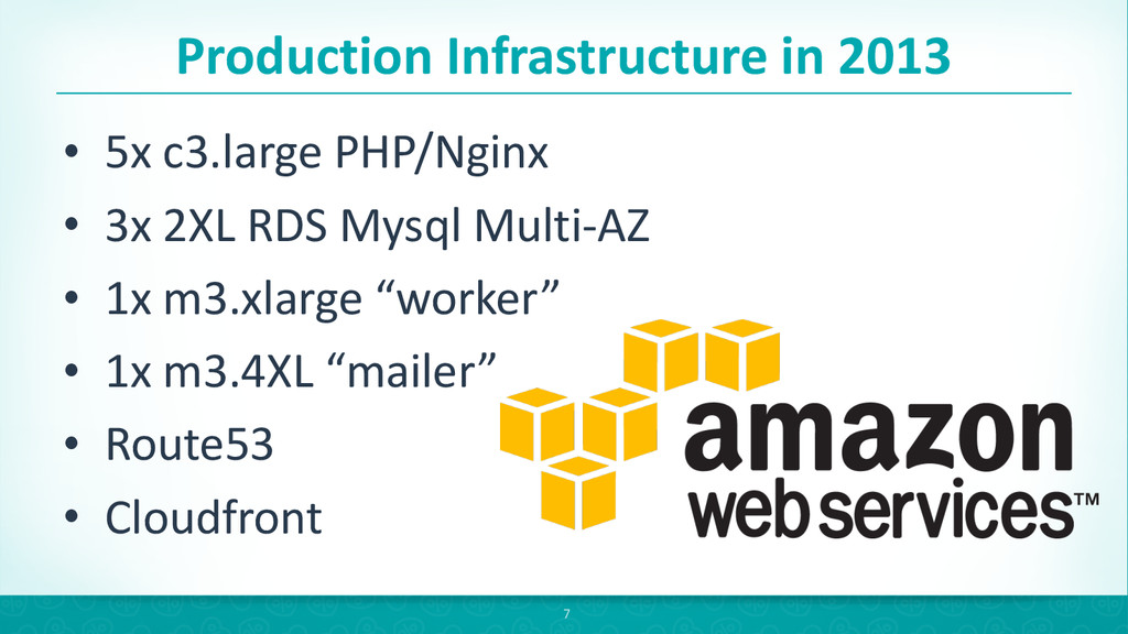 Production Infrastructure in 2013 • 5x...