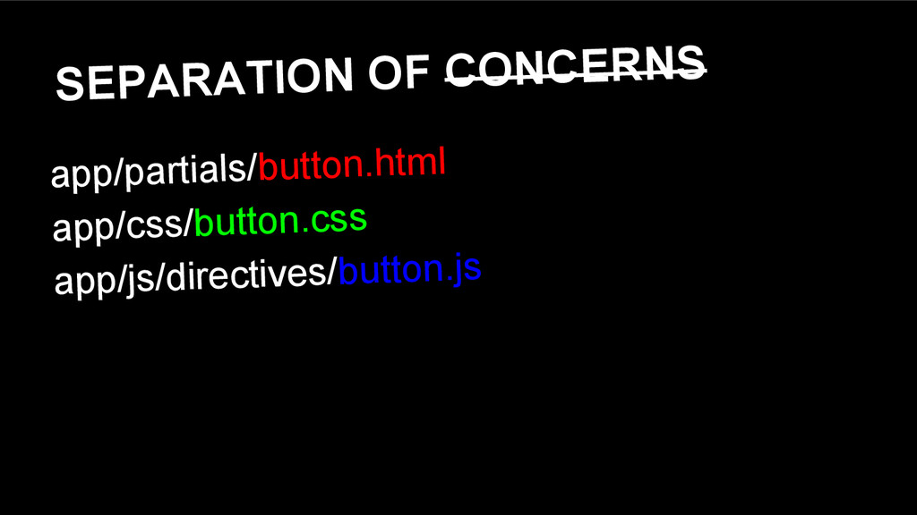 SEPARATION OF CONCERNS app/partials/button.html...