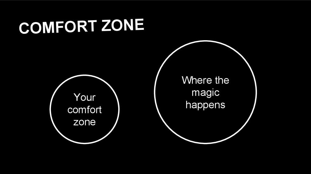 COMFORT ZONE Your comfort zone Where the magic ...