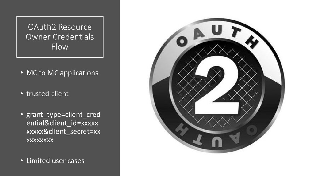 OAuth2 Resource Owner Credentials Flow • MC to ...