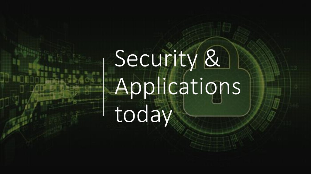 Security & Applications today