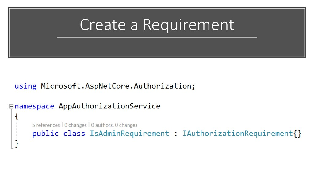 Create a Requirement