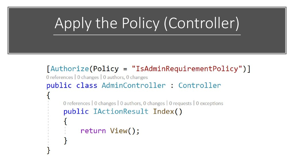 Apply the Policy (Controller)
