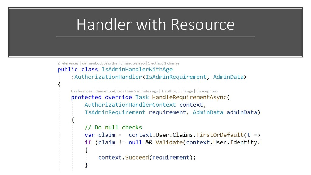 Handler with Resource