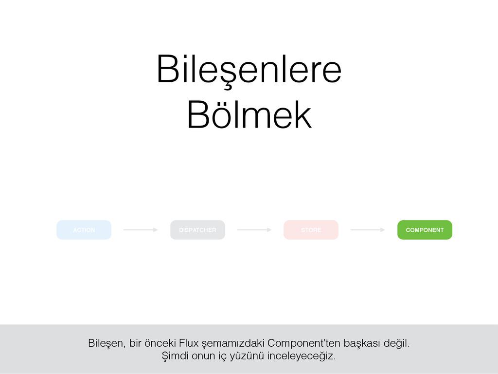 ACTION COMPONENT DISPATCHER STORE Bileşenlere B...