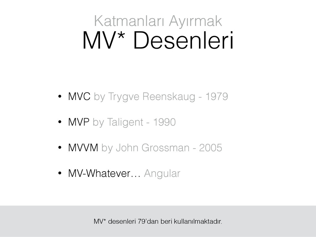 Katmanları Ayırmak MV* Desenleri • MVC by Trygv...