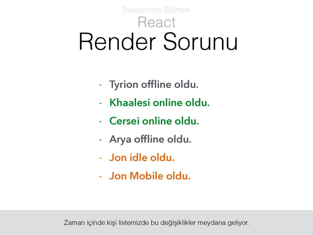 - Tyrion offline oldu. - Khaalesi online oldu. -...