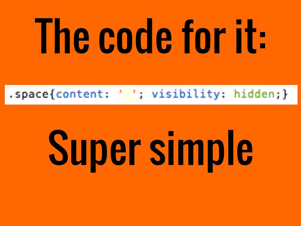 The code for it: Super simple