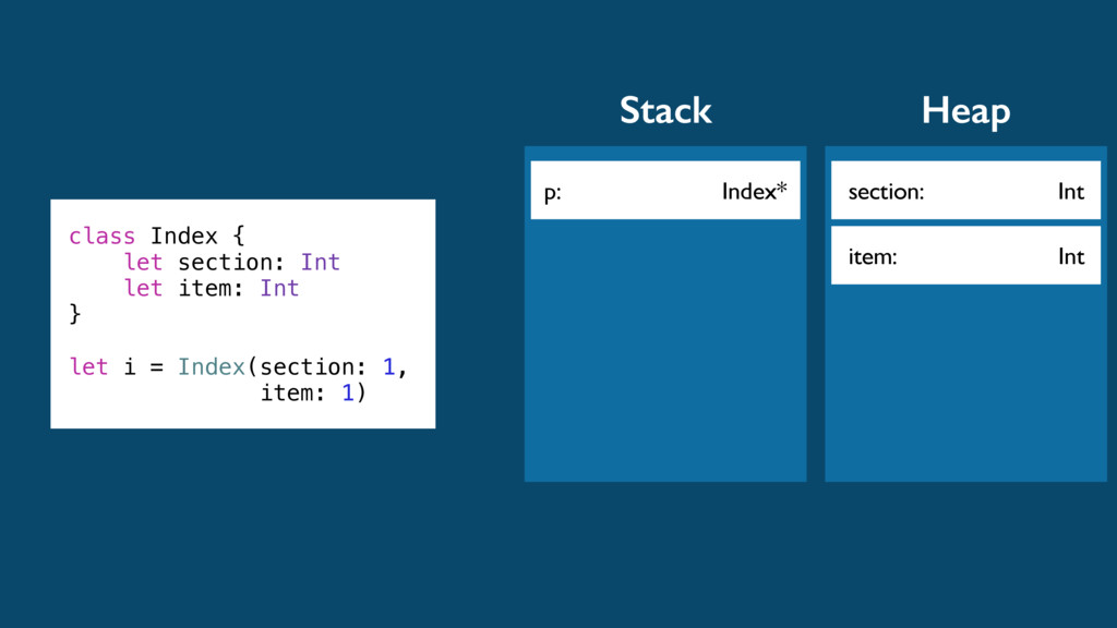 p: Index* Stack class Index { let section: Int ...