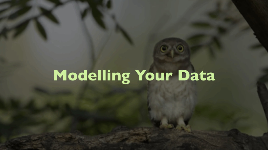 Modelling Your Data