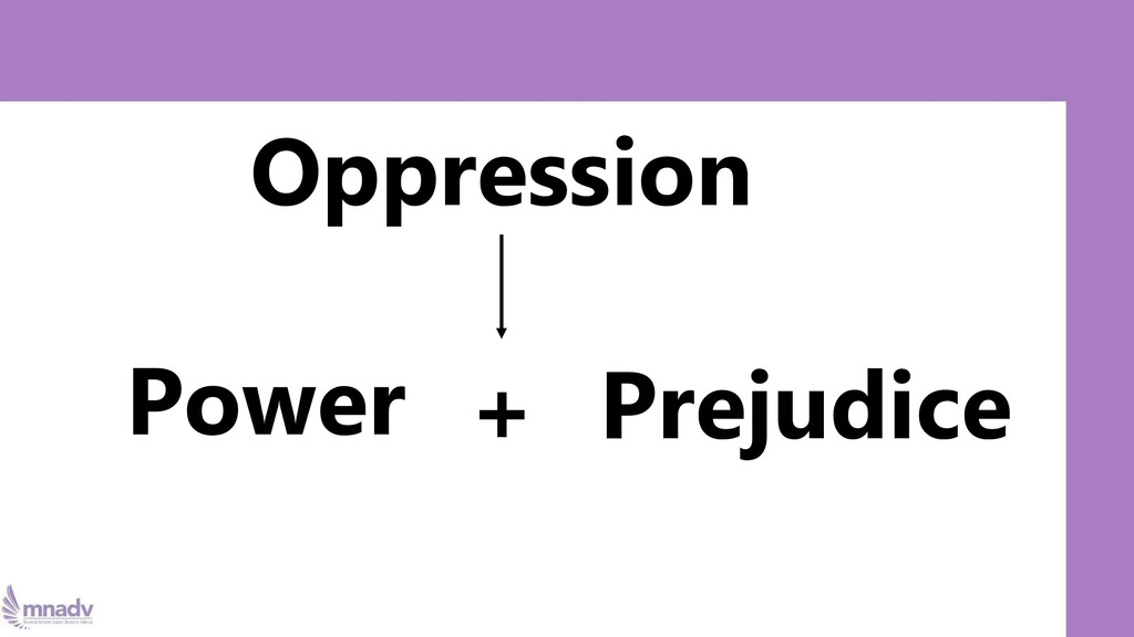 Oppression Power Prejudice +