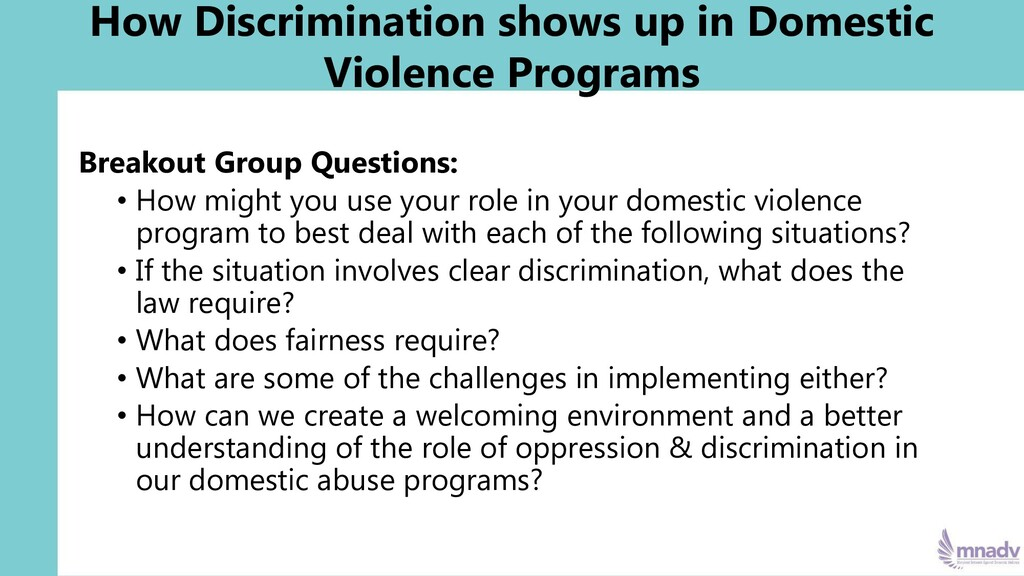 How Discrimination shows up in Domestic Violenc...