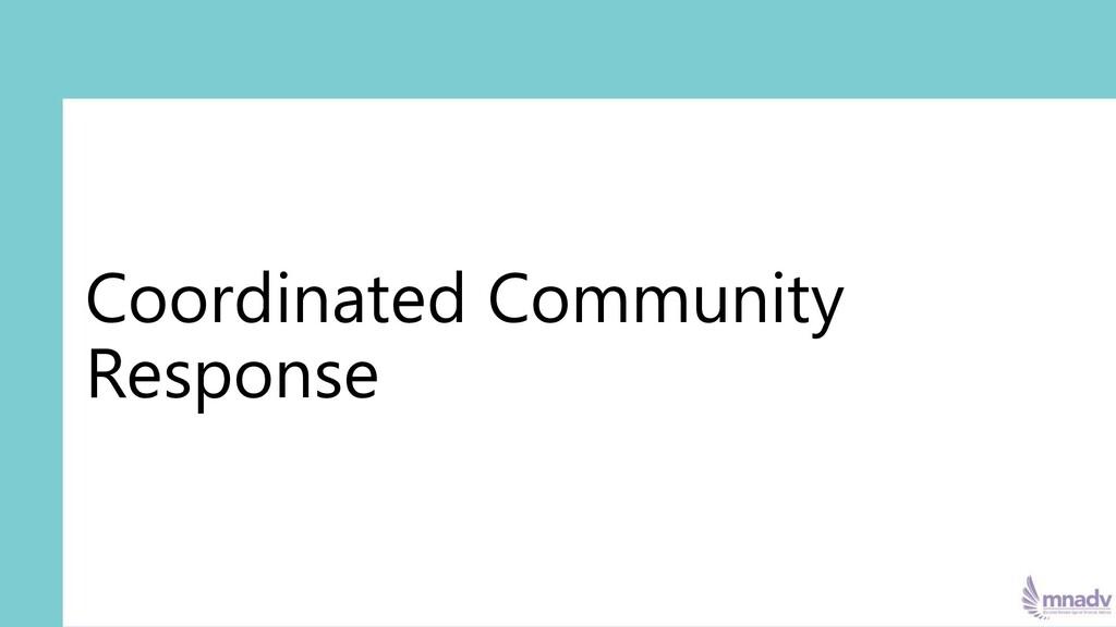 Coordinated Community Response