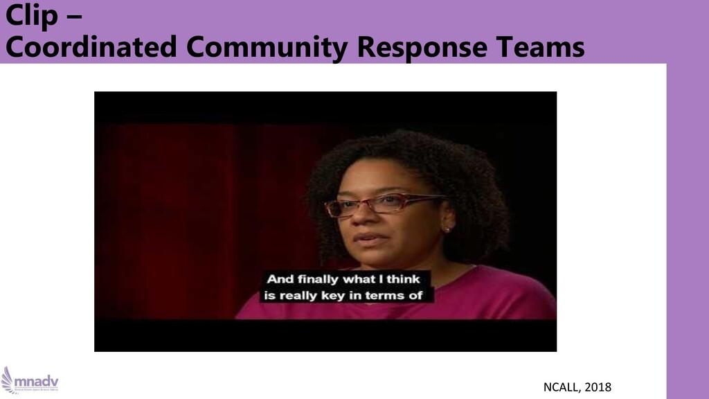 Clip – Coordinated Community Response Teams NCA...