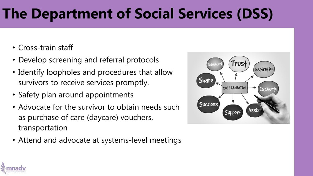 The Department of Social Services (DSS) • Cross...