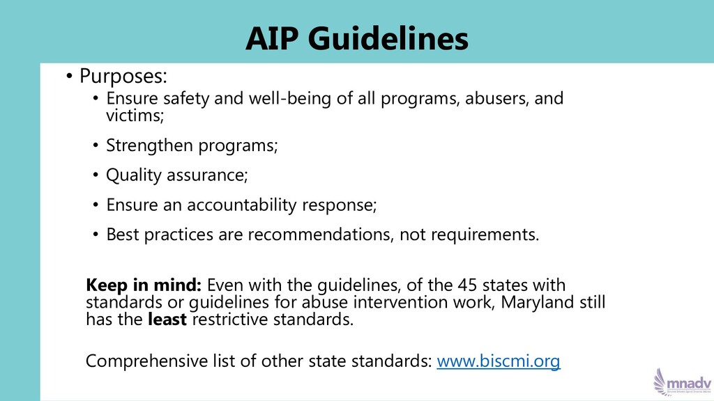 AIP Guidelines • Purposes: • Ensure safety and ...