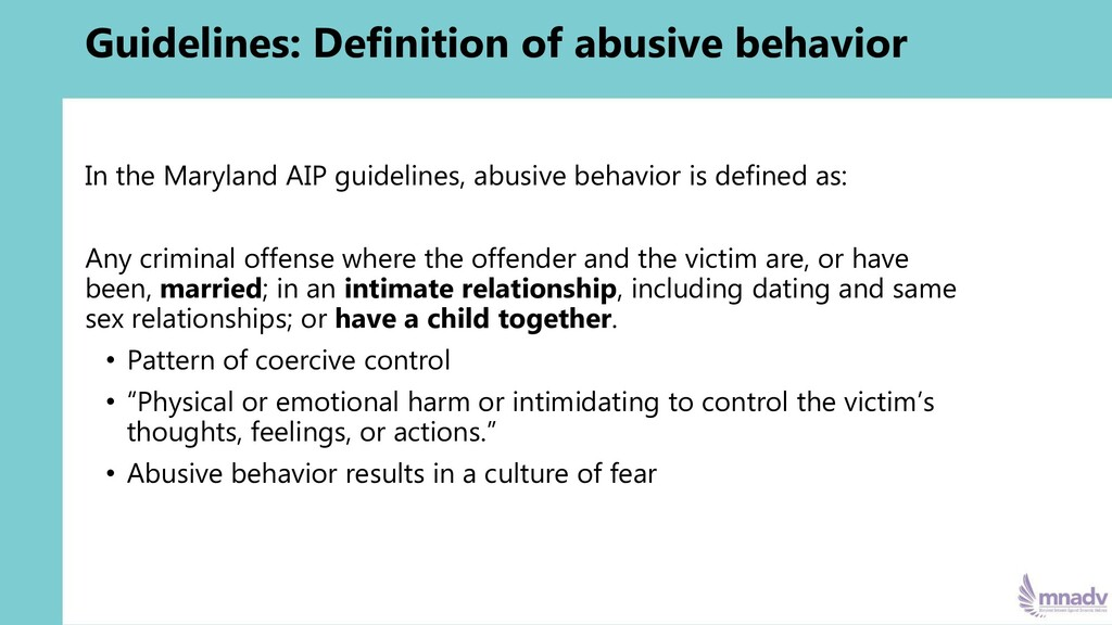 Guidelines: Definition of abusive behavior In t...
