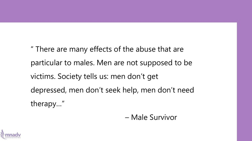 """"""" There are many effects of the abuse that are ..."""