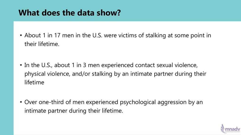 What does the data show? • About 1 in 17 men in...