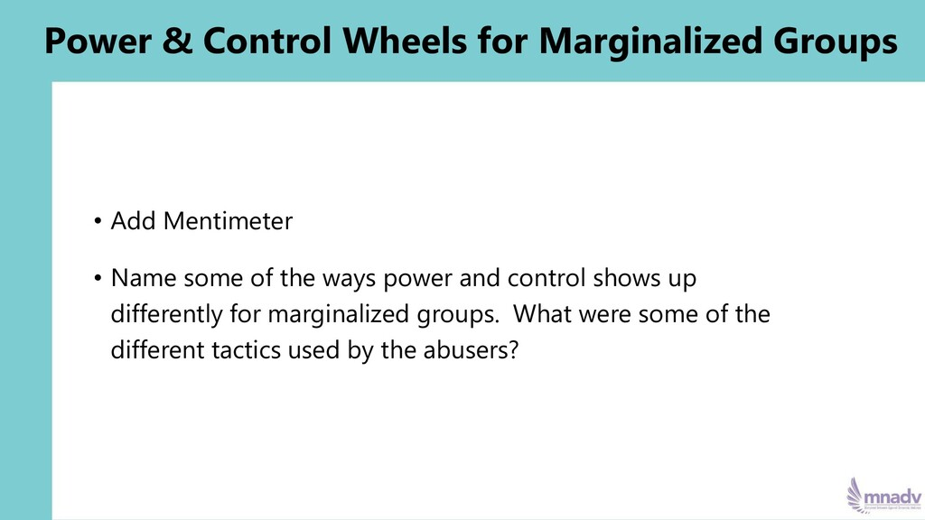 Power & Control Wheels for Marginalized Groups ...