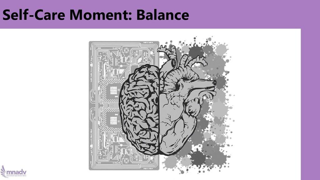 Self-Care Moment: Balance