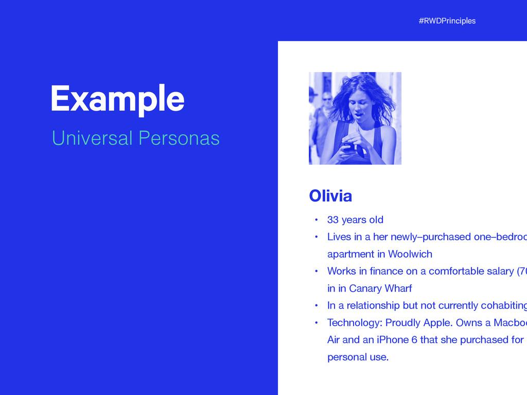 #RWDPrinciples Example Universal Personas t Oli...