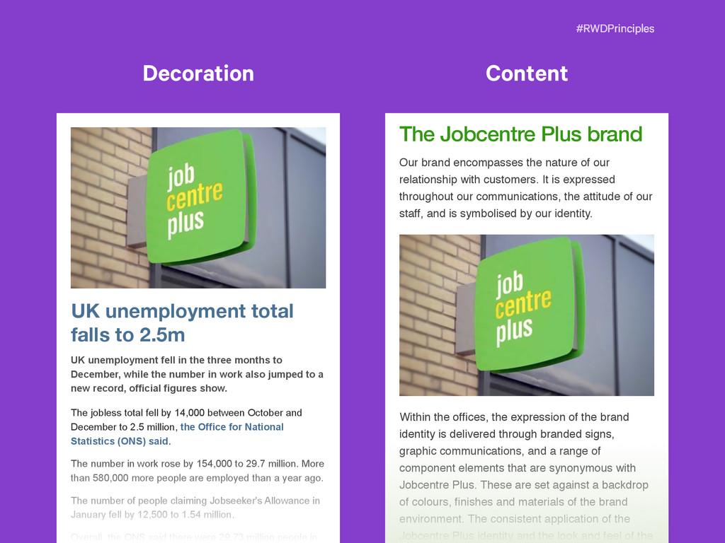 #RWDPrinciples The Jobcentre Plus brand Our bra...