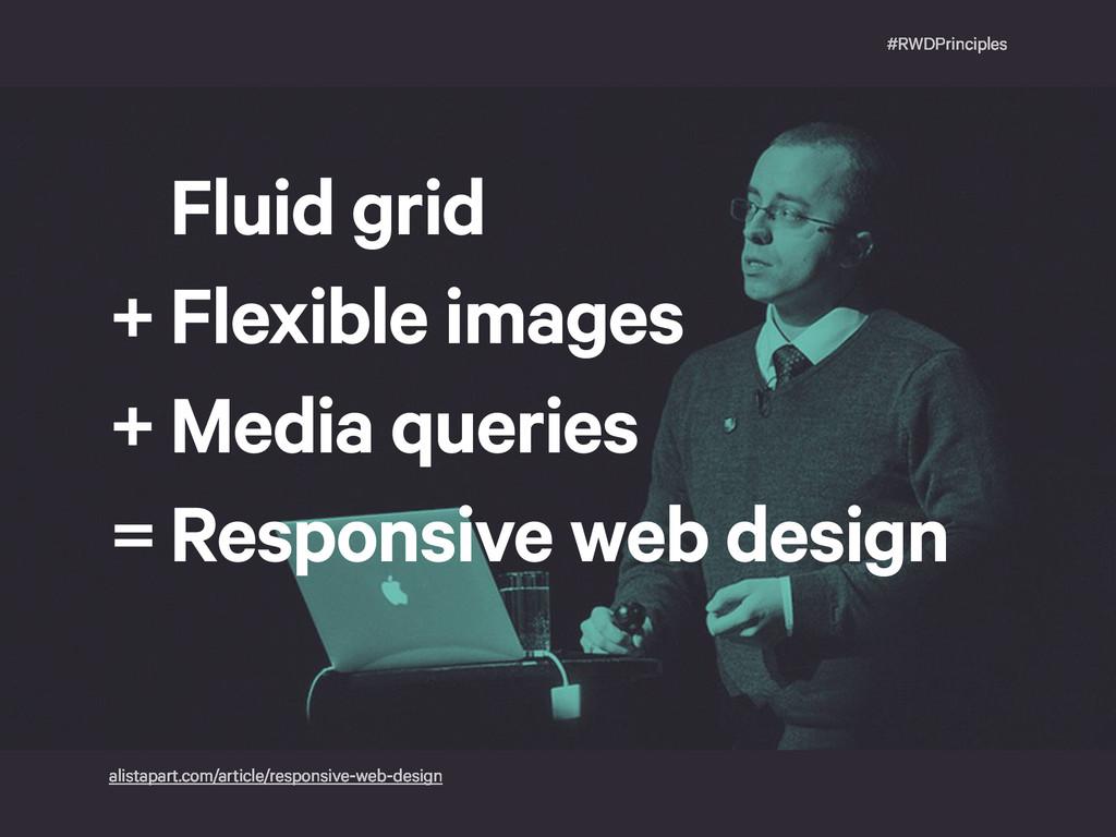 #RWDPrinciples Fluid grid Flexible images Media...