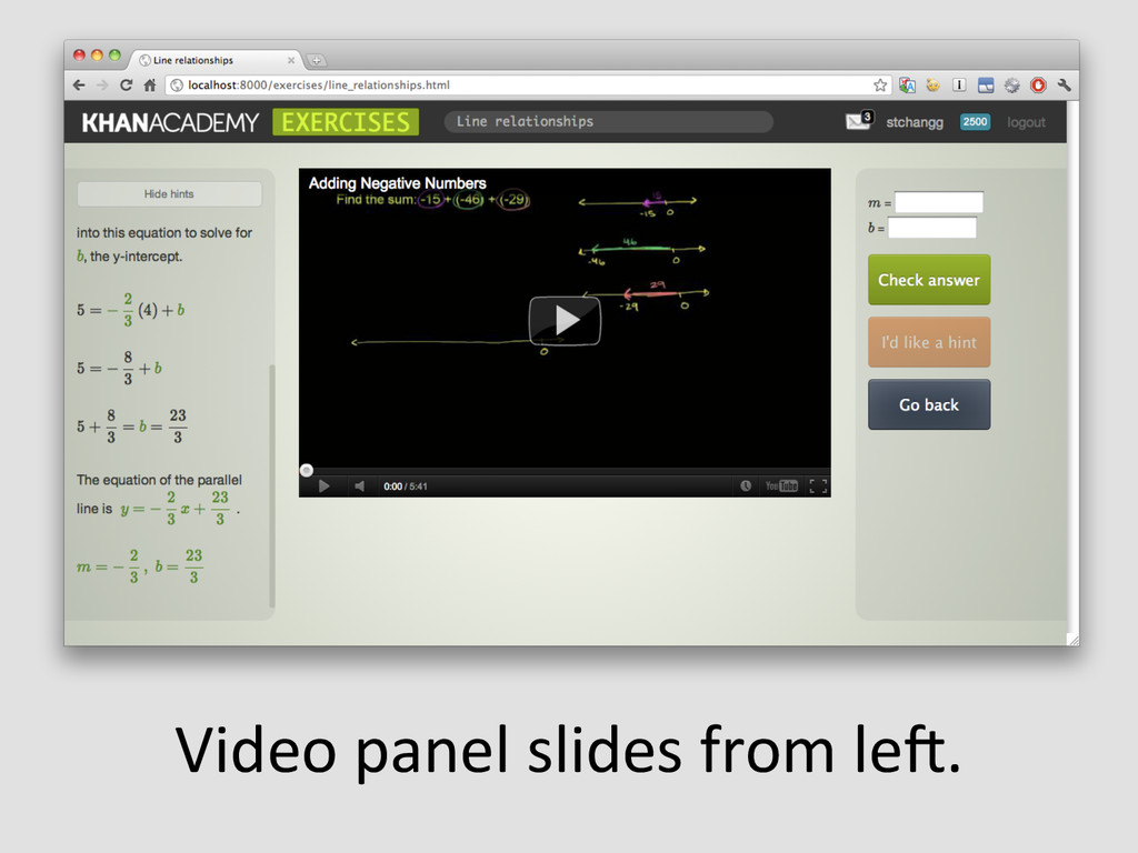 Video panel slides from leW.