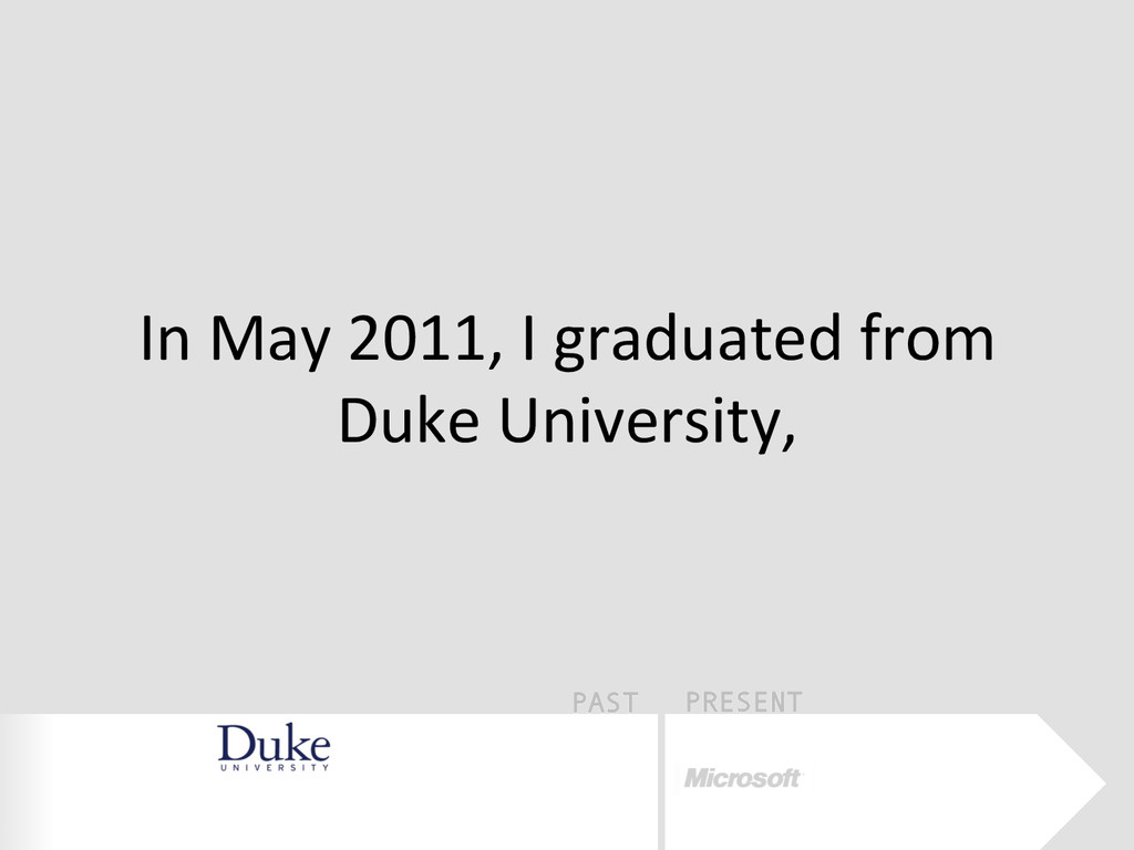 PAST PRESENT In	