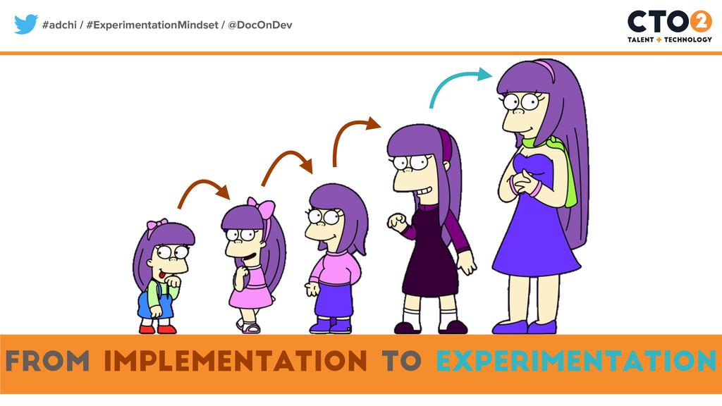 #adchi / #ExperimentationMindset / @DocOnDev fr...
