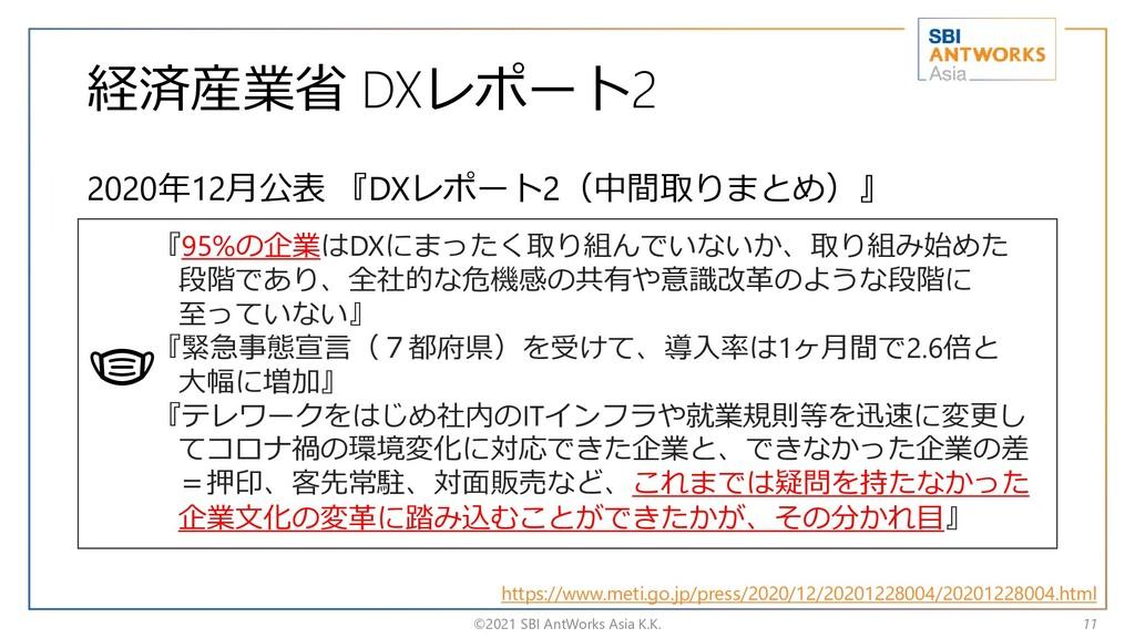 経済産業省 DXレポート2 2020年12月公表 『DXレポート2(中間取りまとめ)』 ©20...
