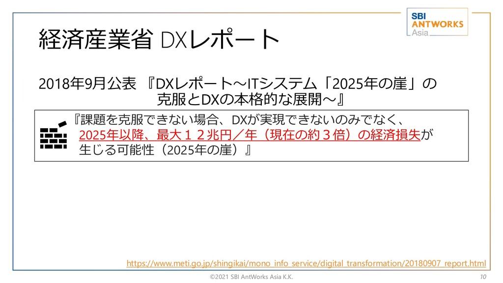 経済産業省 DXレポート 2018年9月公表 『DXレポート~ITシステム「2025年の崖」の...