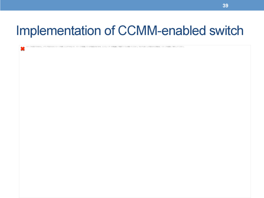 Implementation of CCMM-enabled switch	