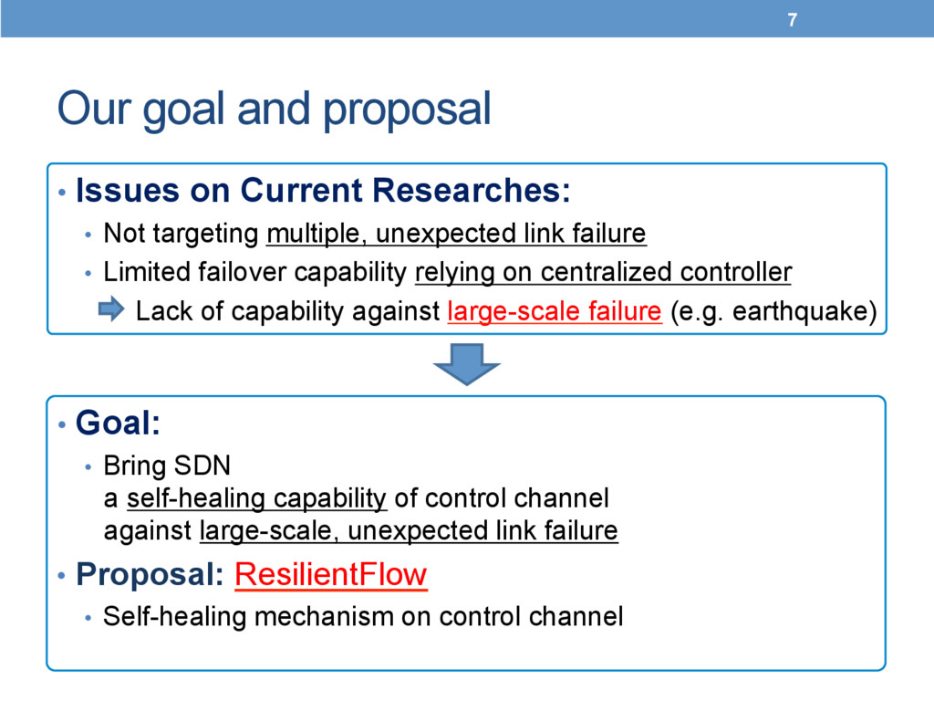 Our goal and proposal	