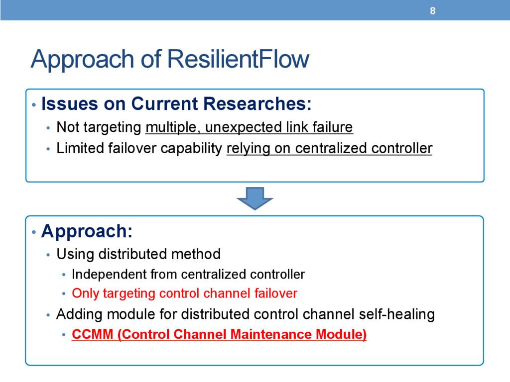 Approach of ResilientFlow 8 • Approach: • U...
