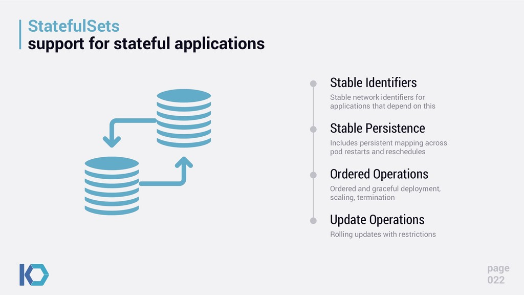 StatefulSets support for stateful applications ...