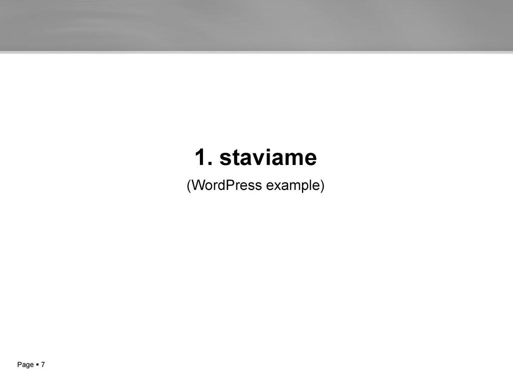 Page  7 1. staviame (WordPress example)