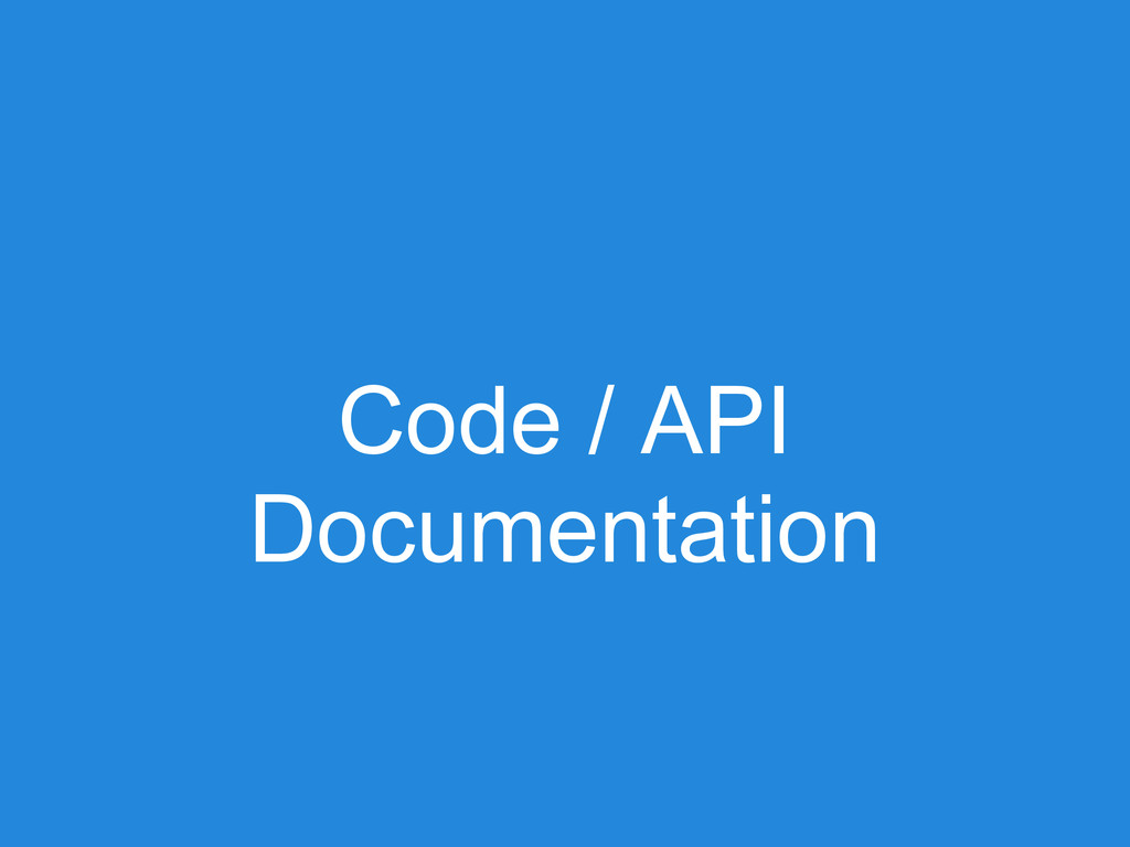 Code / API Documentation