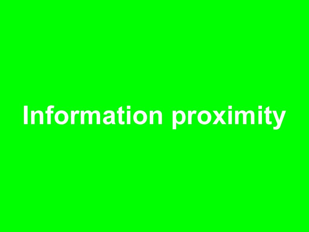 Information proximity