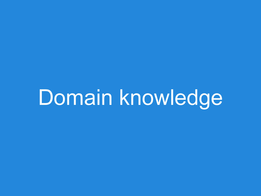 Domain knowledge