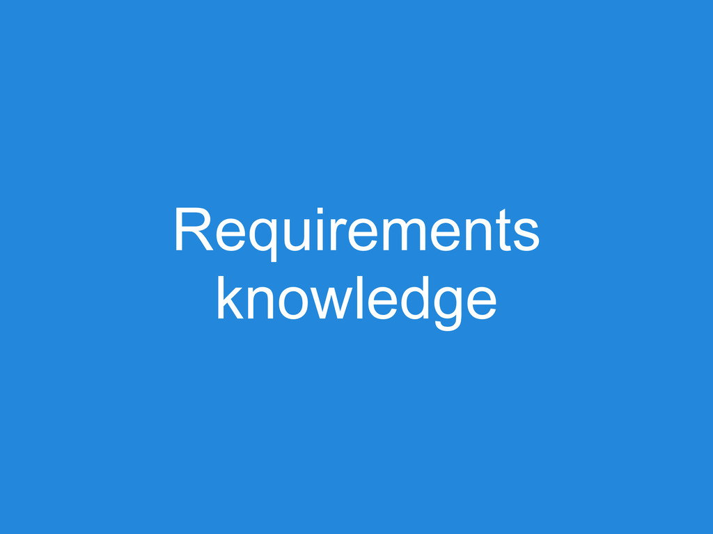 Requirements knowledge