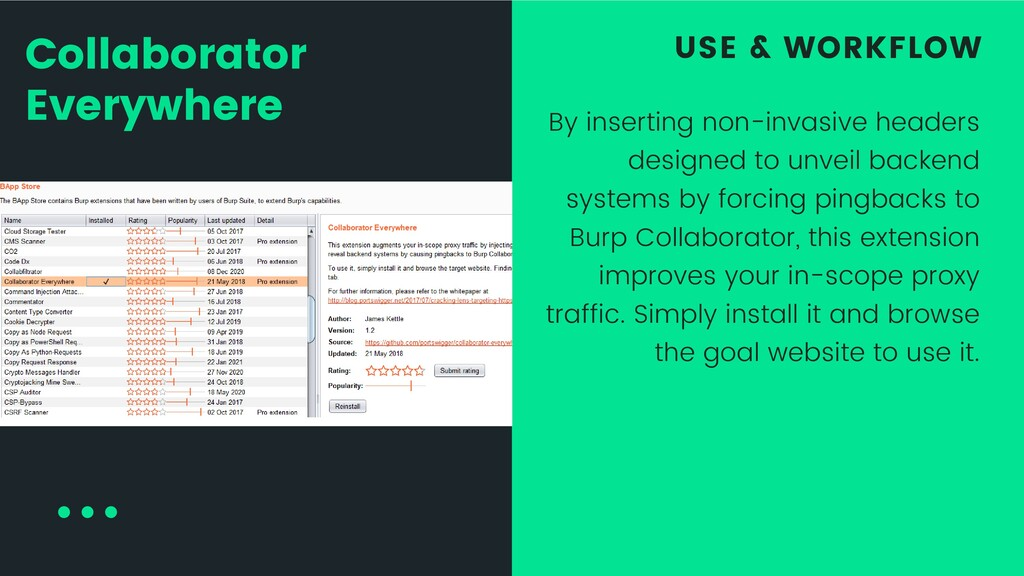 USE & WORKFLOW By inserting non-invasive header...
