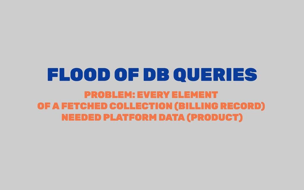 FLOOD OF DB QUERIES FLOOD OF DB QUERIES PROBLEM...