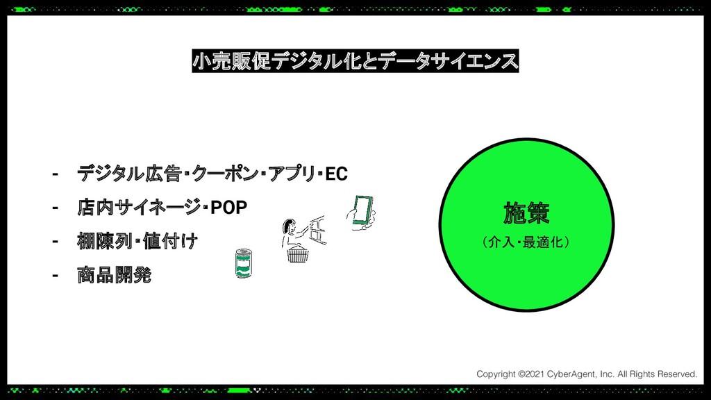 施策 (介入・最適化) - デジタル広告・クーポン・アプリ・EC - 店内サイネージ・POP ...