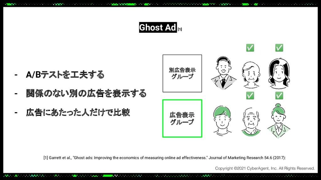 """[1] Garrett et al., """"Ghost ads: Improving the e..."""